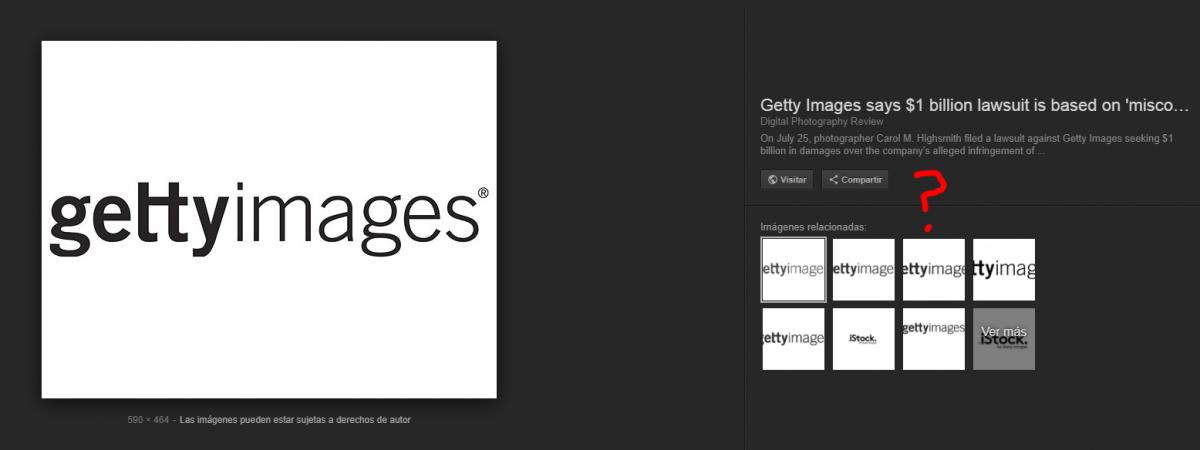 Google, Getty y el botón Ver Imagen